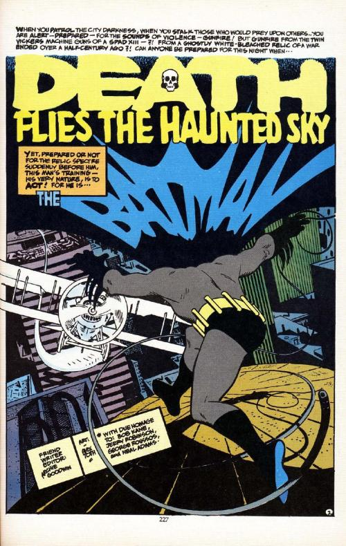 alex toth and archie goodwin. batman. death flies the haunted skies. page. 002